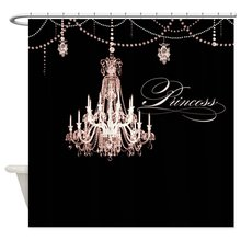 CHARM HOME Princess Chandelier Girly Jewel Pearl Design