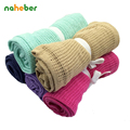 Baby Blanket  Soft Cotton Babies Bedding Newborn Casual Sleeping Blankets Kids Car/ Crib Summer Breathable Hole Wrap Swaddles