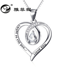 love deserve to act the role of 925 sterling silver hollow out valentine's day gifts wholesale pendant crystal necklace act of love