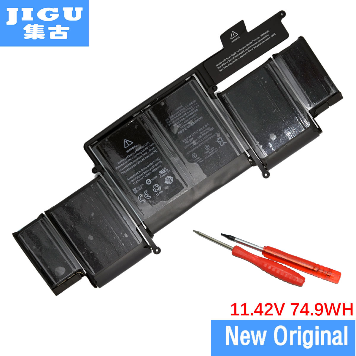 JIGU Free shipping Brand New Original Battery A1582 For Apple for Macbook PRO Retina 13inch A1502 2015 Year original new for nihon kohden pvm 2700 pvm 2703 pvm 2701 sb 201p x076 monitor rechargeable battery 12v 3700mah free shipping