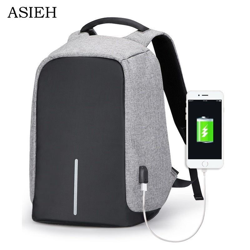 Backpacks, Rugzak, Minimalist, Menino, USB, Charge