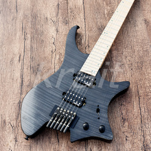 Krait Безголовый DIY гитара fanned fret с корпусом из ольхи включает в себя все части