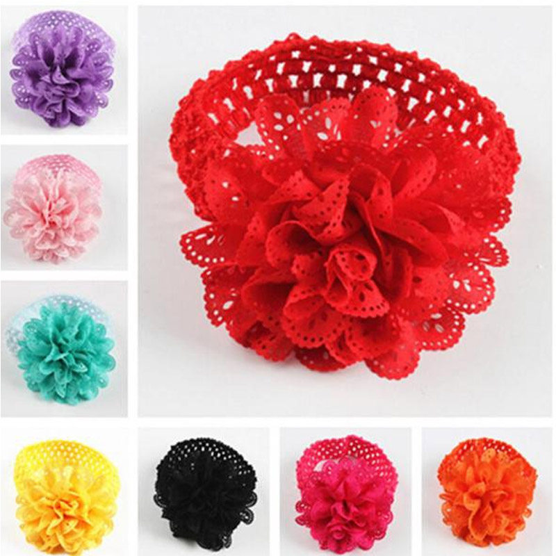 1pcs Children Party Toys Hat Kids Baby Girls Flower Headband Birthday Party Hat Toys Lace Bow Flower Party Toys For Children