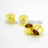 Free shipping 100pieces Noise Stopper Gold Plated Copper RCA Plug Caps Top Quality