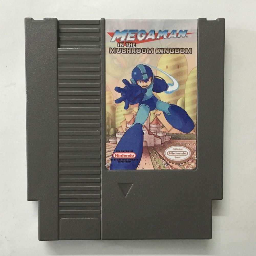 Megaman In the Mushroon kingdom Game card 72pin 8 bit Game cartridge Drop shipping!