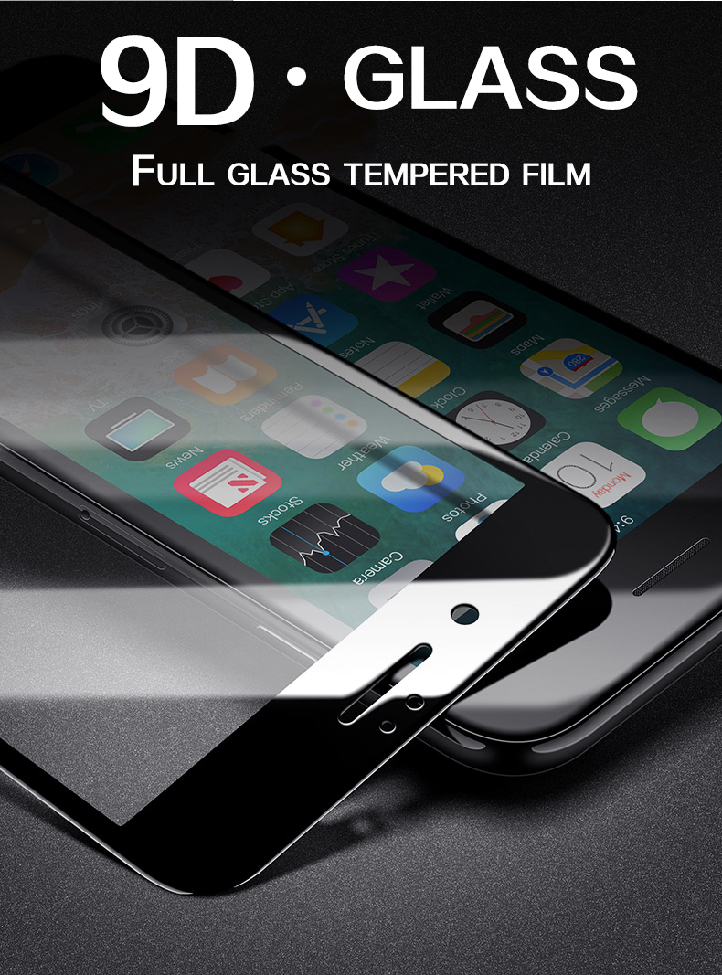 9D protective glass for iPhone 6 6S 7 8 plus X glass on iphone 7 6 8 X R XS MAX screen protector iPhone 7 6 screen protection XR 3