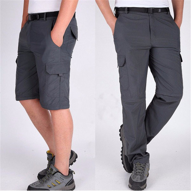 2017 Brand New Fashion Mens Zipper Detachable Pants Summer Quick Dry Outdoors Long Trousers Elastic Solid Casual Pantalon Home