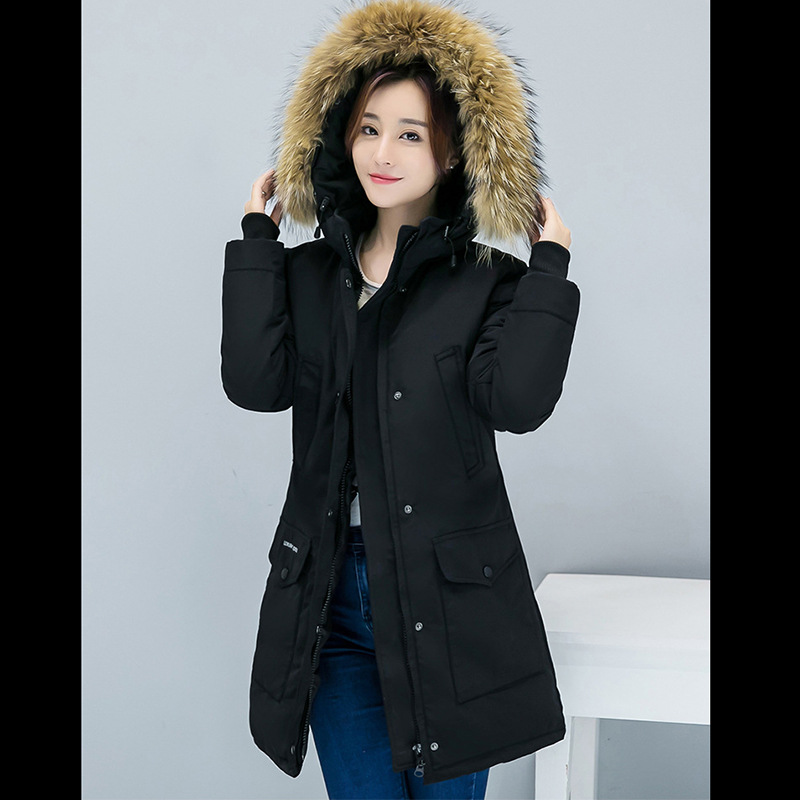 New winter 2019 cotton jacket female hooded women's long big yards thickening   parkas   manufacturer wholesale HS7373