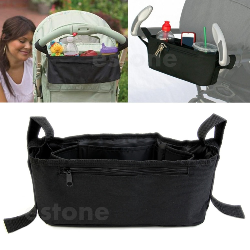 Free Shipping Stroller Drink Parent Tray Pram Console Organizer Double Cup Holder Phone Jogger
