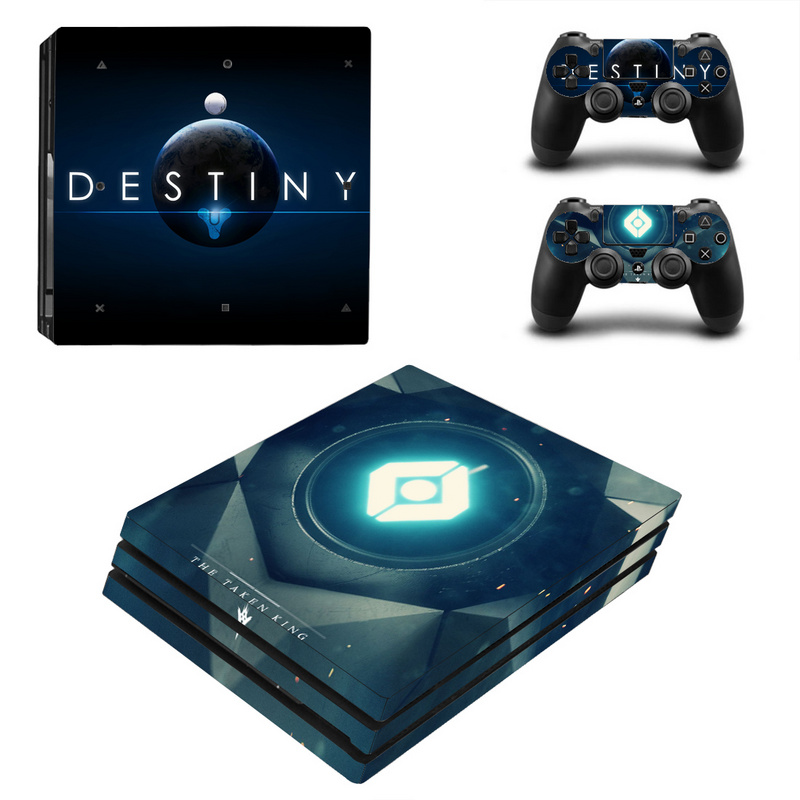 Destiny For PS4 Pro Vinyl Skin Sticker Cover Wrap Console 2PCS Controller Skin Decal For Sony Playstation 4 Pro Game Accessories