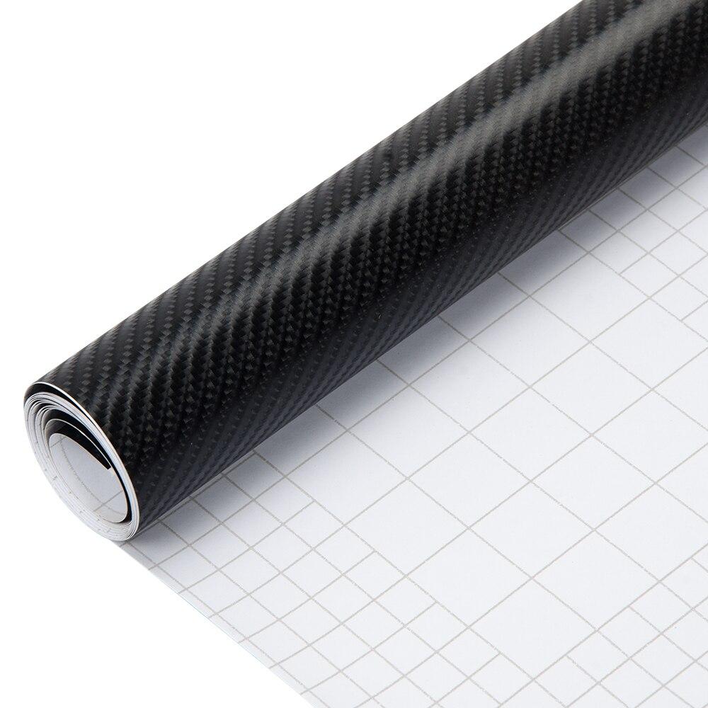 Sunice 4D Voiture Autocollant 1.52*5 m En Fiber De Carbone Vinyle pellicule de film Imperméable de Feuille bricolage Autocollant Décoratif Voiture Voiture Noire Style Décalque