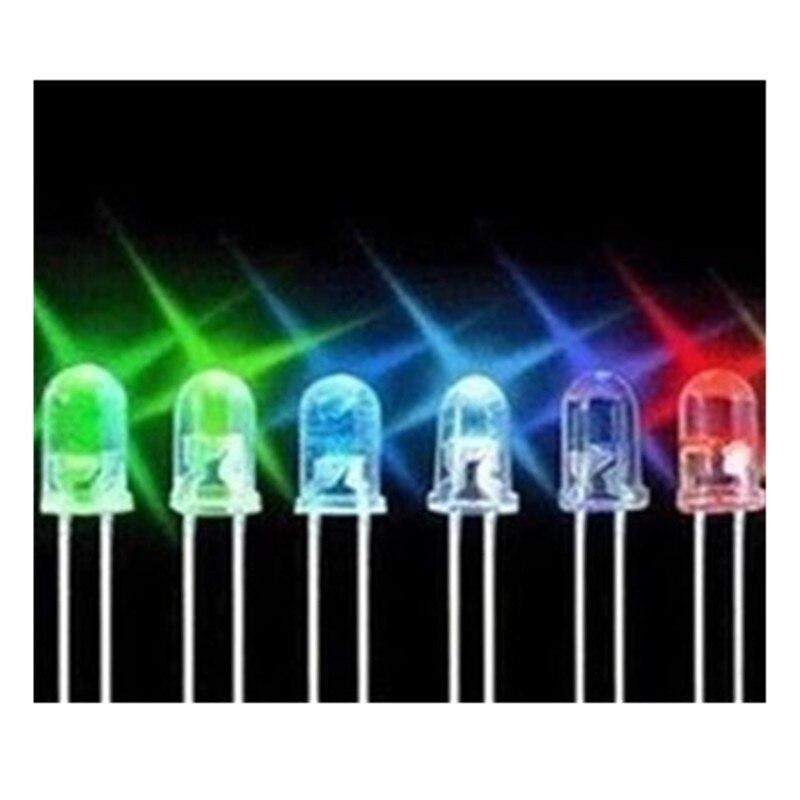 100pcs 3mm LED Light White Yellow Red Green Blue Assorted Kit DIY LEDs Set 3 mm