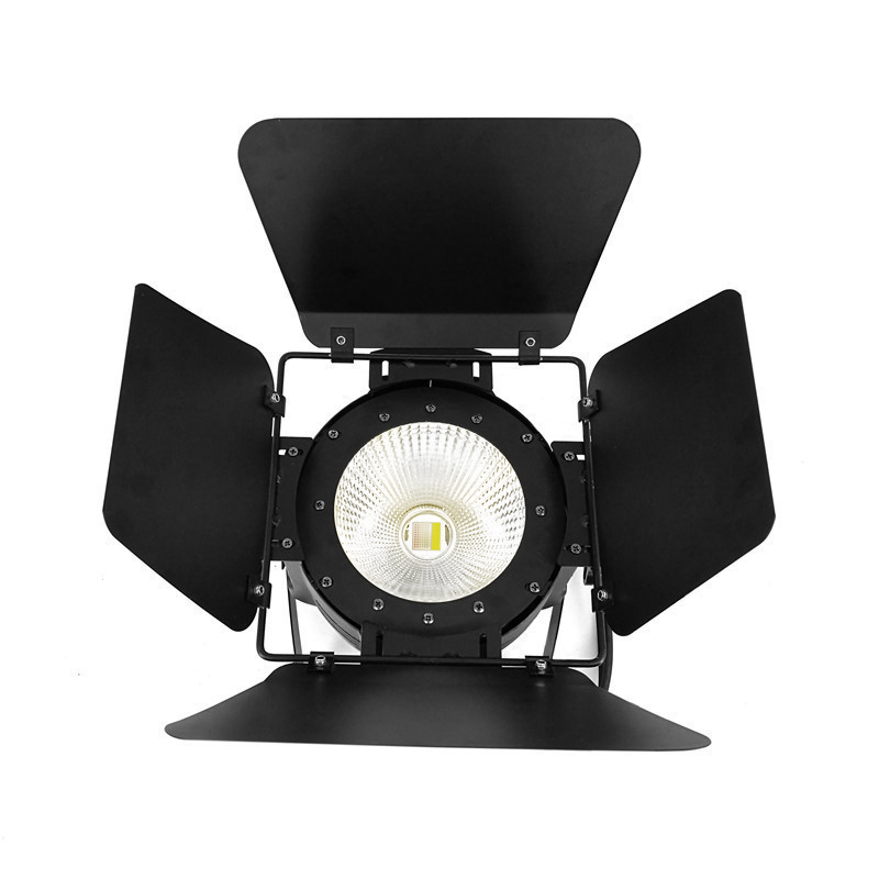 Fast Shipping LED Par COB 100W  RGBW 4IN1 Lighting With Barn Doors High Power Aluminium Lighting For DMX512 Stage Effect