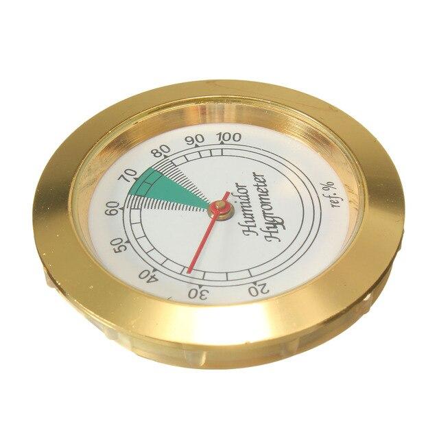 43mm di Diametro Analogico di Precisione Igrometro di Umidità Humidor D'oro Poin