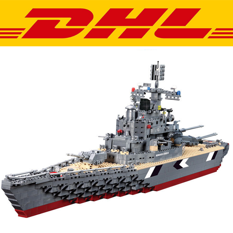 New KAZI 82012 1297Pcs Technic Figures KM Bismarck Battleship Model Building Kits Blocks Bricks Toy For Children Compatible Gift ba904 academy wwii german artwox battleship bismarck wood deck aw10047