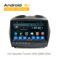 9 Inch Auto Radio For Hyundai Ix 35 2009 2010 2011 2012 2013 2014 Android GPS Multimedia With Octa Core 2GB+32GB No DVD Player