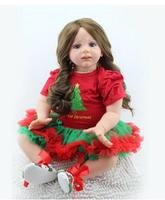 Hot Genuine NPKDOLL 60 cm Real silicone reborn baby dolls Soft Material Christmas Dress Up Baby Toy Interactive reborn babies