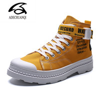 High Quality Fashion Men High Top British Style Rrivet Shoes Mens Causal Luxury Shoes Red white Bottom rubber Shoes for Male