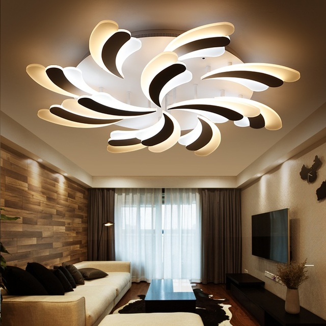 New Pattern Modern Art Led Home Ceiling Lamp Commercial Decoration Interior Lighting Lights 110