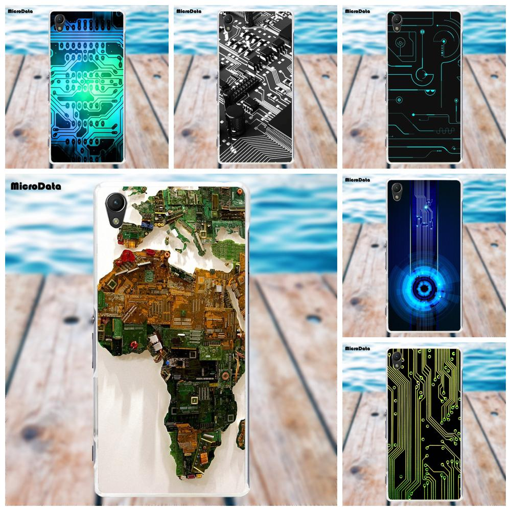 Soft Tpu Fashion Cell Phone Case Computer Battery Circuit Board For Sony Xperia Z Z1 Z2 Z3 Z4 Z5 Compact Mini M2 M4 M5 T3 E3 Xa In Half Wrapped From