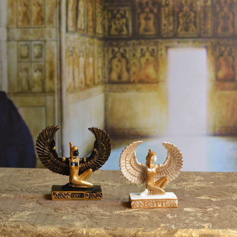 Resin Craft Egypt Isis Statue Home Decoration Accessories Resin Craft Egypt Goddess Isis Statue Sculpture
