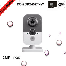 2106 NEW WIFI Camera DS-2CD2432F-IW, Full HD 3MP multi-function alarm network camera Built-in microphone Freeshipping