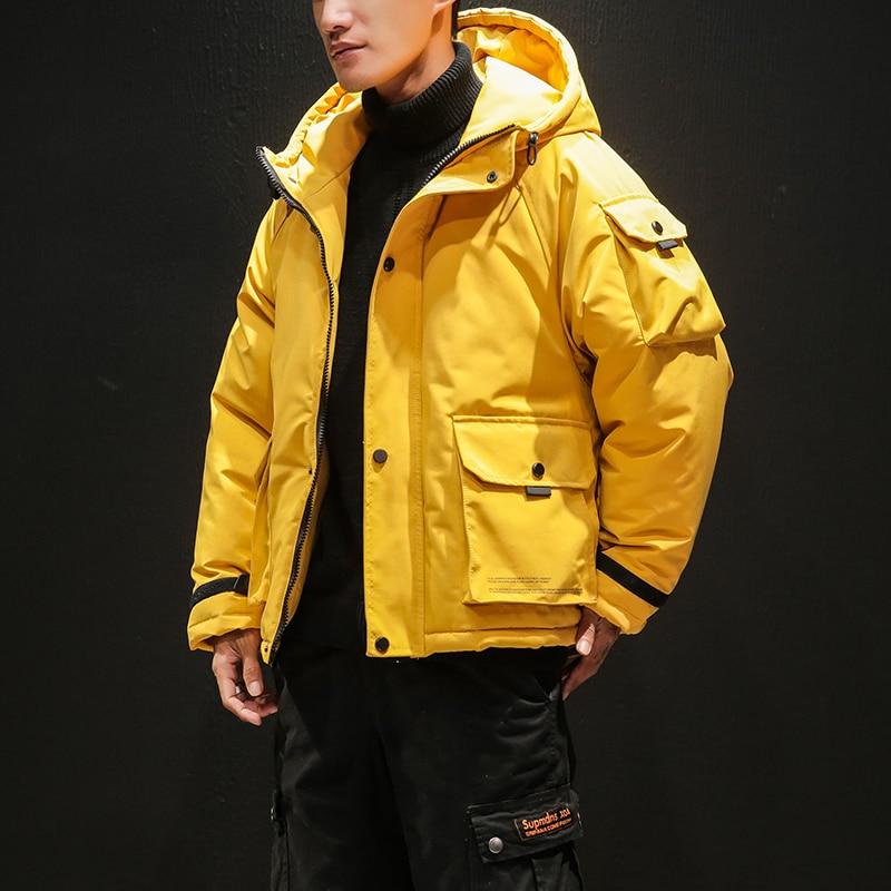 High Quality Men Winter Warm Down Jackets Short Winter Coats New Fashion Men Loose Casual Warm Parkas Hooded Jackets