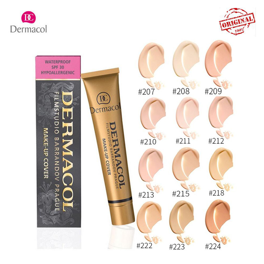 Dermacol Original Pro Concealer Make up Cover Contouring for face Anti Cerne Corrector Foundation Cream Cosmetic