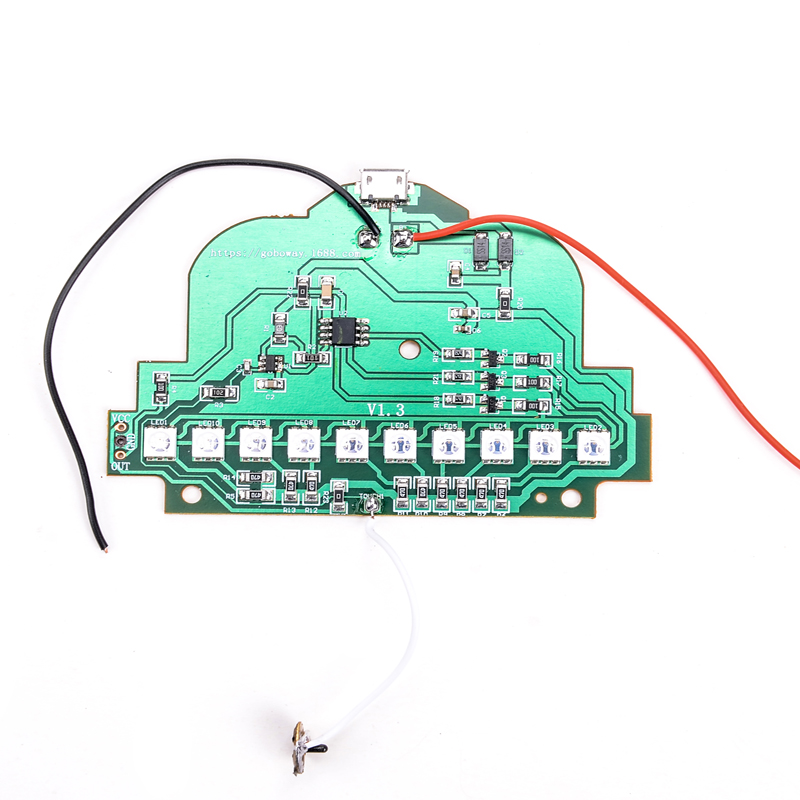 3D Night Table Lamp Light Base Circuit Board and USB Cable ...