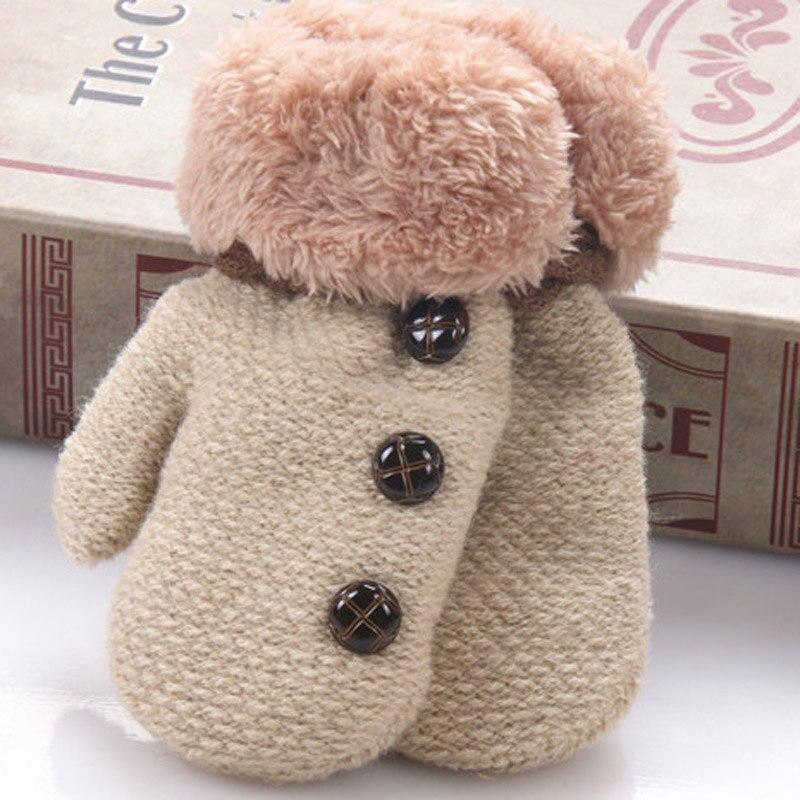 Das Beste 2017 Neue Kinder Fäustlinge Winter Wolle Baby Gestrickte Handschuhe Kinder Warme Seil Baby Fäustlinge Für Kinder 1-3 Jahre Alt