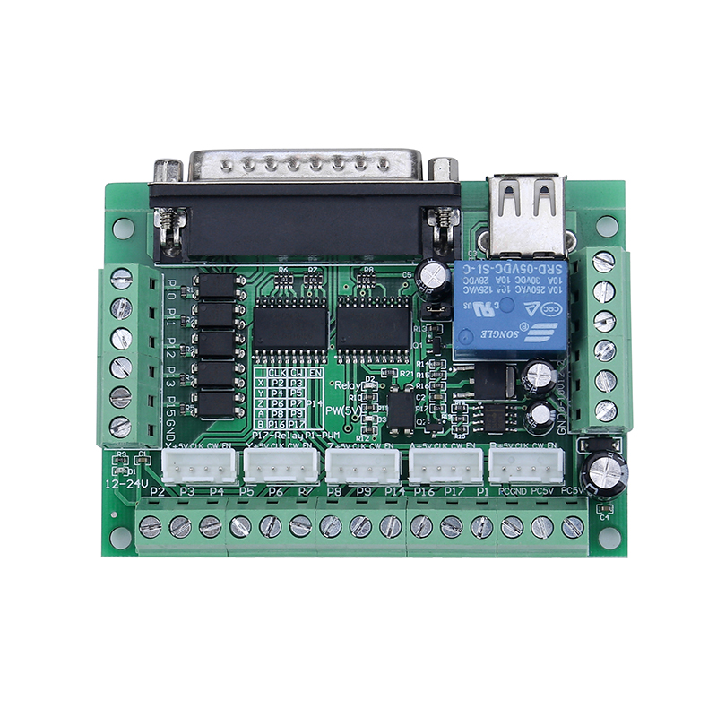 4 axes/3 Axes CNC Routeur Kit 4 pièces TB6600 4A pilote de moteur pas à pas + Nema23 Moteur 57HS5630A4 + 5 Axes carte D'interface + Alimentation - 5