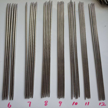 55Pcs 35cm Double Pointed Stainless Steel Knitting Needles Set DIY Craft Sewing Tools High Quality 11 Sizes