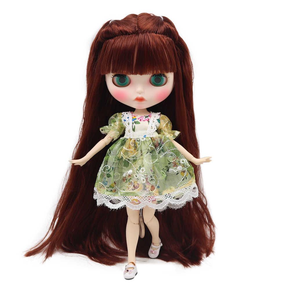 Ледяная фабрика Обнаженная кукла blyth Joint Body с ручной установкой A & B новая матовая Лицевая панель белая кожа модные куклы подарок Специальное предложение