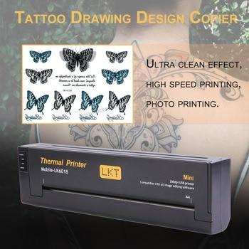 Tattoo Drawing Design Copier Portable Professional Lightweight Tattoo Transfer Machine Paper Maker Printer US Plug Black