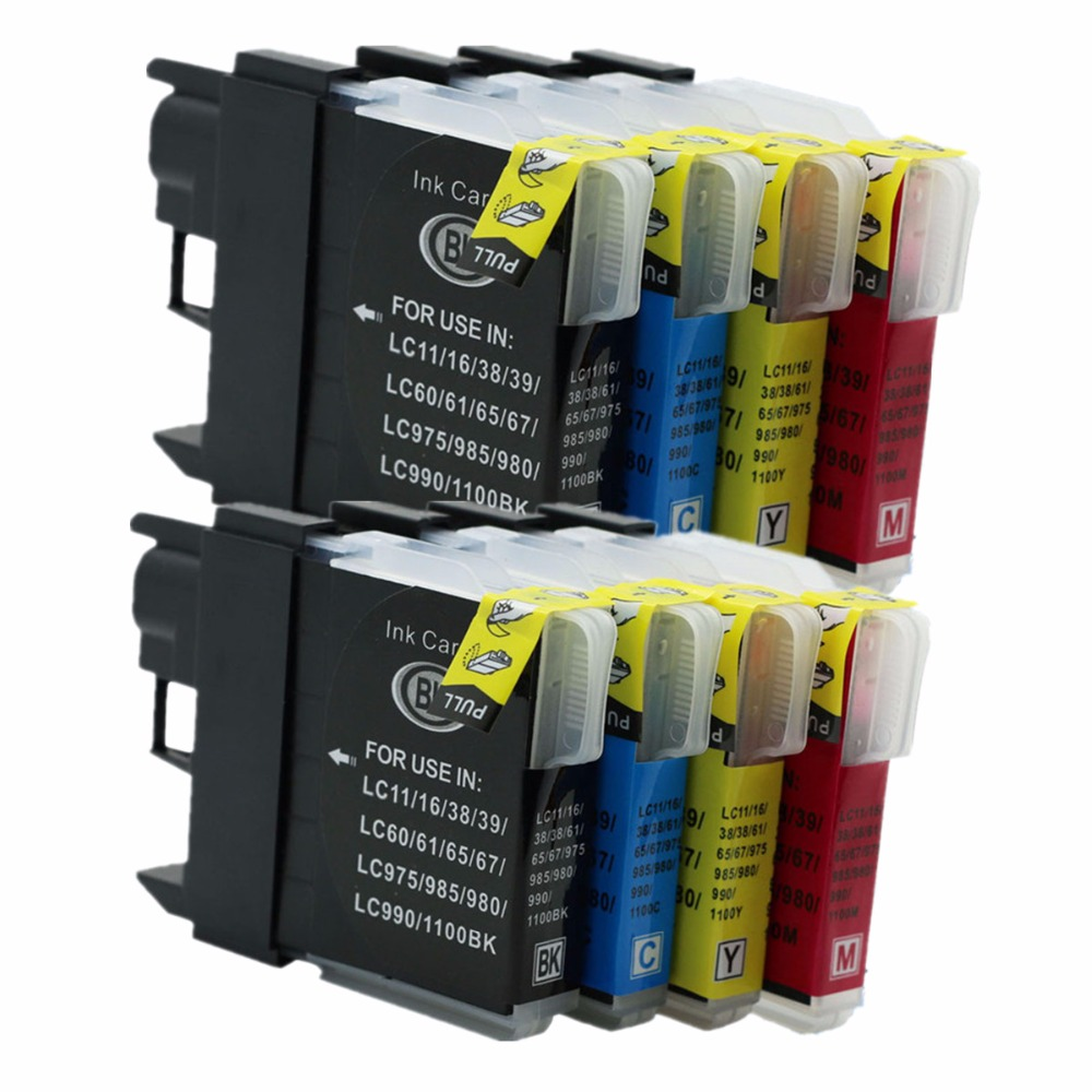 LC980 LC990 Ink Cartridges For Brother MFC 5890CN 6490CW 6870CDW 495CW J615 J615W 6490CW 6490CN 6490CN LC980 LC1100 XL Printer