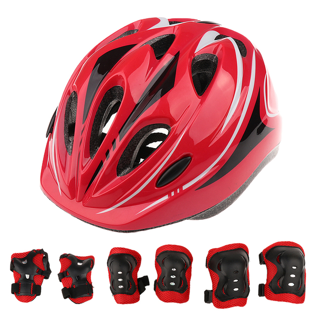 7 Pcs Kid Child Roller Skating Bike Helmet Knee Wrist Guard Elbow Pad Set for Bicycle Helmet Protection Safety Guard Cycling Pad 1