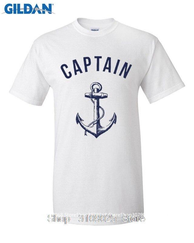 GILDAN DIY Стиль мужские футболки футболка мужская капитан Футболка Якорь Морской