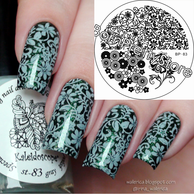 Flower Water Marbles Nail Art Stamping Plates Nails Stamp Template