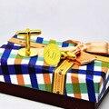 Gravado 3 abotoaduras iniciais personalizado Name Stamp Cuff Link personalizado homens jóias presente do noivo