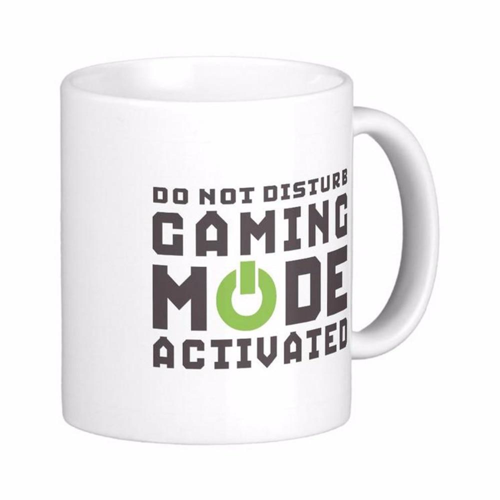 Gaming Mode Activated Gamers And Geek White Coffee Mugs Tea Mug Customize Gift By LVSURE Ceramic Mug Travel Coffee Mugs