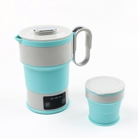 110~240V Portable Electric Kettle Folding Travel Silicone Kettle Camping Water Boiler Tea Kettle Home Mini Kettle
