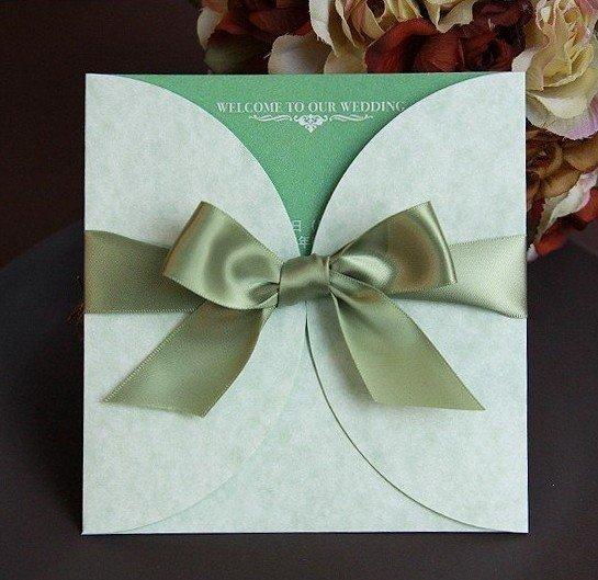 customize invitation card wedding invitation e 056 green color