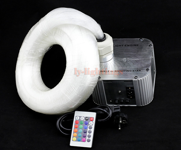 DIY optic fiber light kit led light engine optical fiber twinkle star sky ceiling light 32W wireless remote custom made fibre 5m 2016 newest touching panel controller 16w rgbw led optic fiber light engine 150pcs 0 75mm 2meter optic fiber diy light