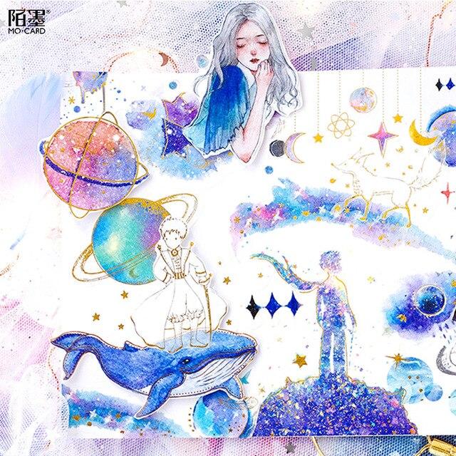 Mohamm Whale Kawaii Diario Mi melodía japonés pequeño papel de viaje Diy pegatinas lindas Scrapbooking copos papelería