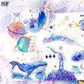 Mohamm Whale Kawaii Journal Diary My Melody японская Маленькая Diy дорожная бумага милые наклейки Скрапбукинг хлопья Канцтовары