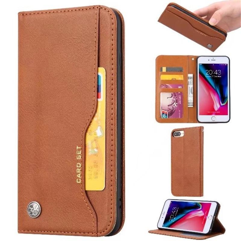 Slot Para Cartão de Crédito da Carteira de luxo Virar Capa de Couro Caso Para iphone 11 XS Pro Max XR X 8 7 Plus Anti -bater o Telefone Capas Protetoras