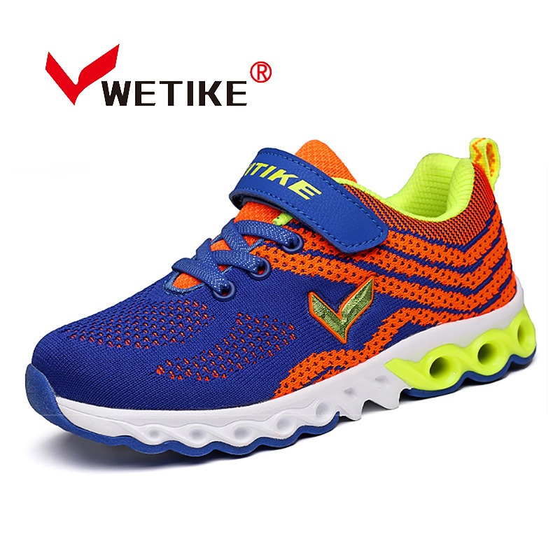 WETIKE 2017 Summer Kid's Running Shoes Mesh Breathable Walking Running Leisure Sneakers For Boys And Girls Outdoor Sports Shoes