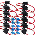 EE support 10X10 Gauge ATC Fuse Holder W/ FUSE IN-LINE AWG Wire Copper 12V Blade XY01