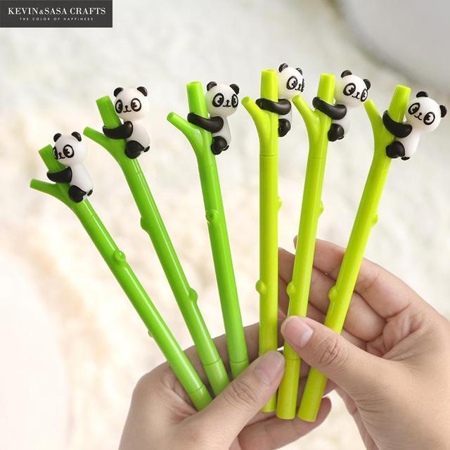 2 unids/set de bolígrafo de Gel Panda papelería Kawaii escuela suministros bolígrafo de tinta de Gel escuela proveedores de oficina de papelería pluma niños regalos herramientas