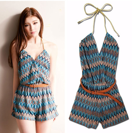 1c889f455c Free Shipping Multi-colored knitted one-piece shorts women's clothing  fashion pants